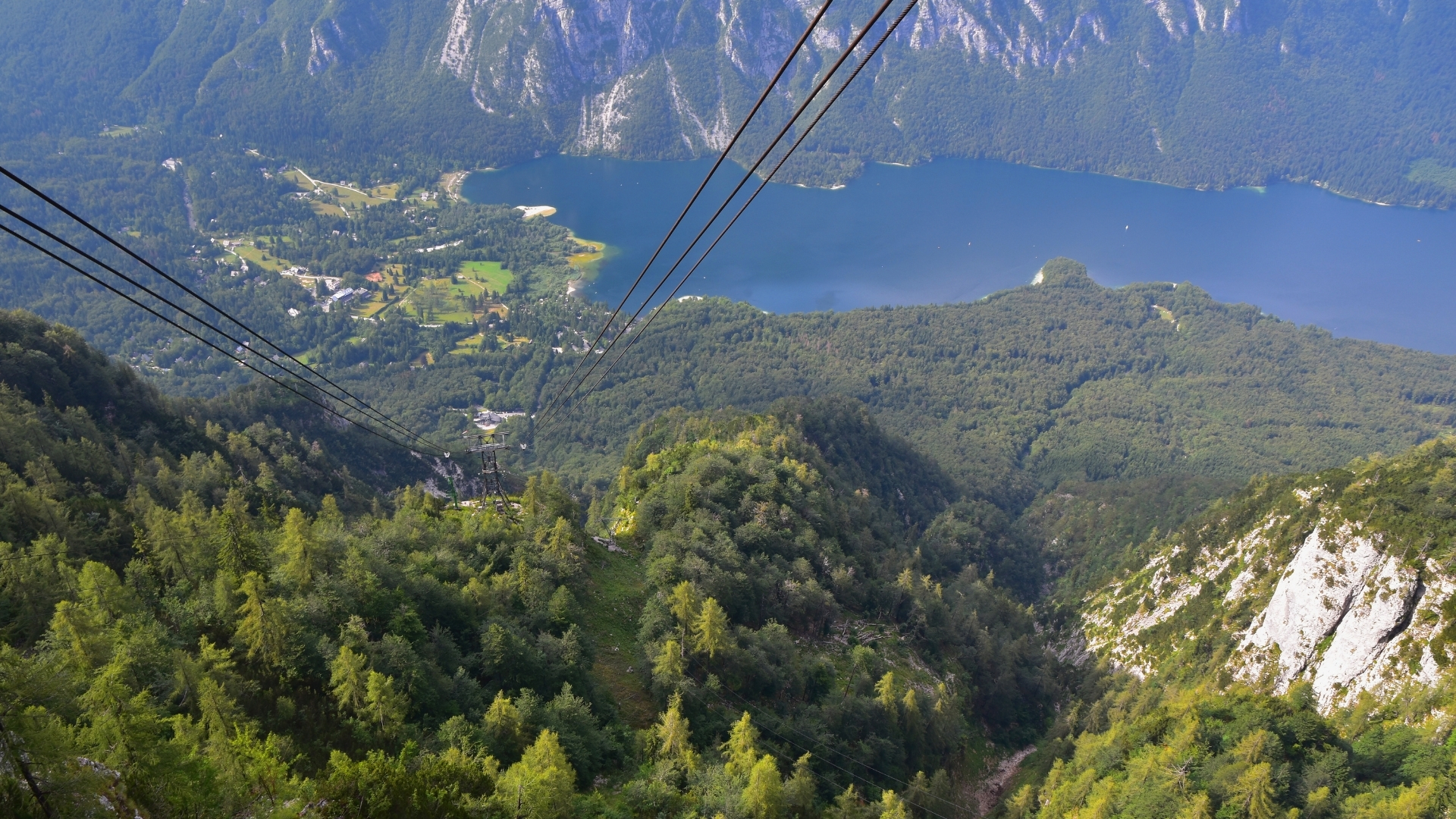Lake Bohinj from Vogel