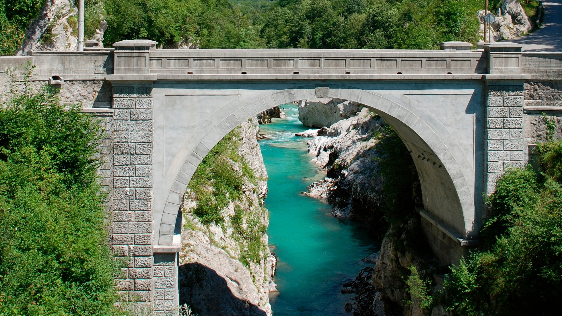 Soča River Napoleon Bridge
